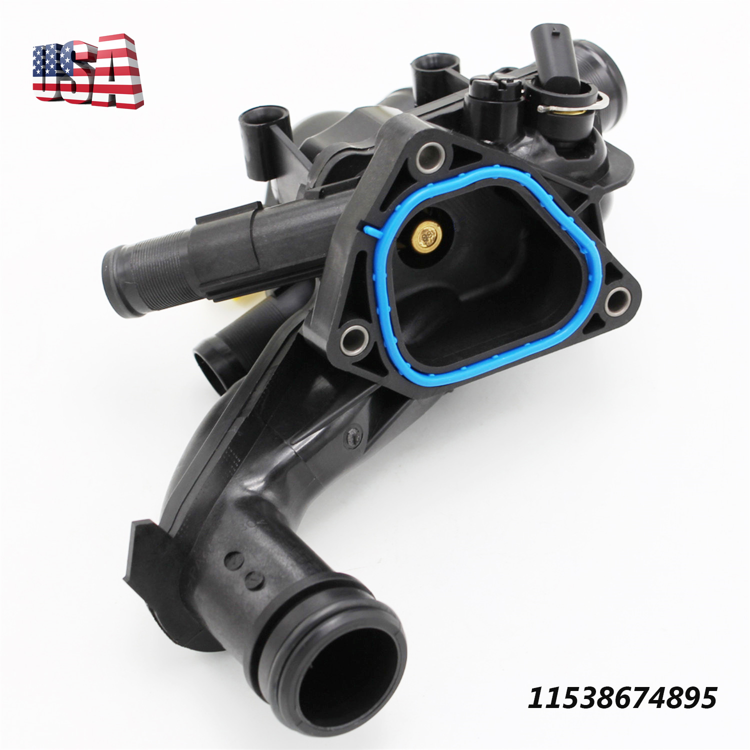 New Thermostat Housing W/Gasket For Mini Cooper Countryman
